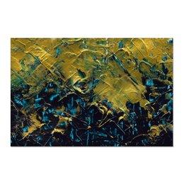 "Холст 60x90 ""Abstract"" - картина, разводы, абстракция, живопись, флюид"