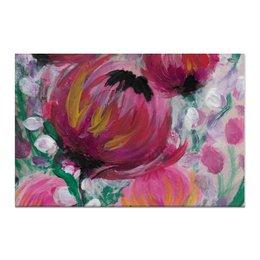 """Холст 60x90 """"Полевые цветы"""" - лето, цветы, весна, розовый, подарок"""