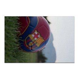 "Холст 60x90 ""Барселона"" - barcelona, messi, месси, испания, неймар"