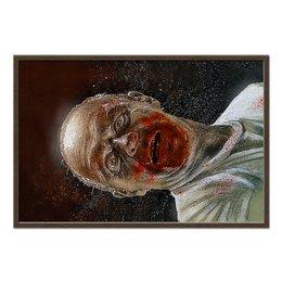"""Холст 60x90 """"Hannibal Lecter"""" - убийца, энтони хопкинс, серийный маньяк, доктор лектор"""