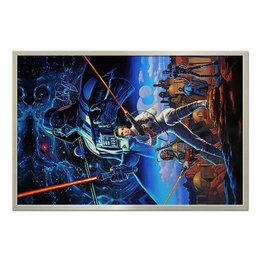 "Холст 60x90 ""Star Wars (old)"" - дарт вейдер, космос, фантастика, star wars"