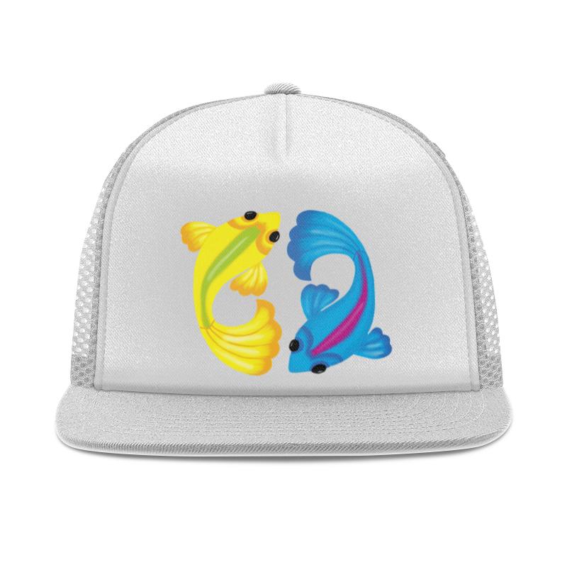 Printio Рыбки кепка тракер с сеткой printio логотип москвы