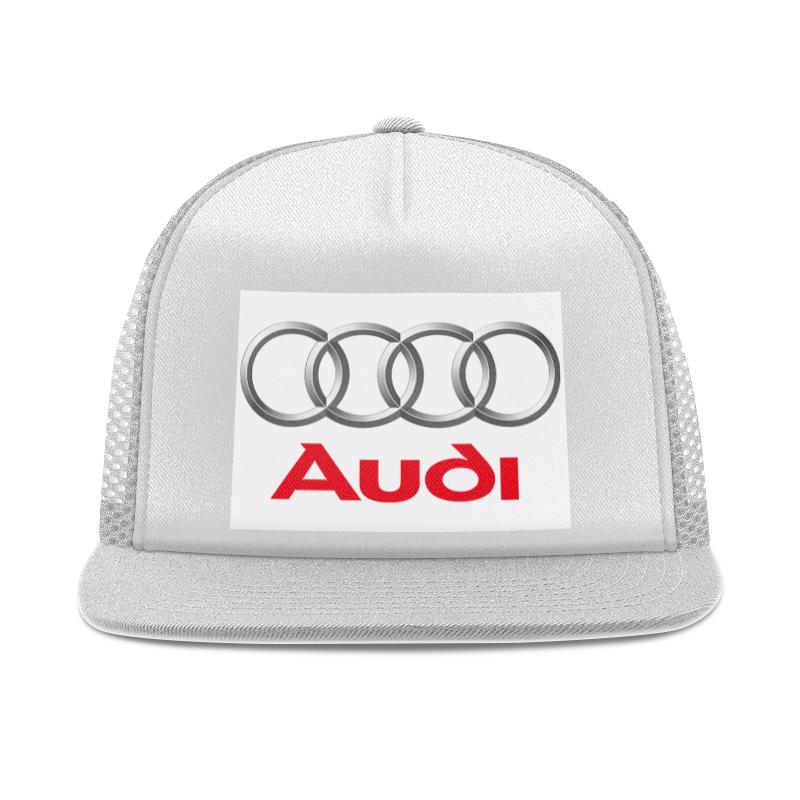 Кепка тракер с сеткой Printio Audi.
