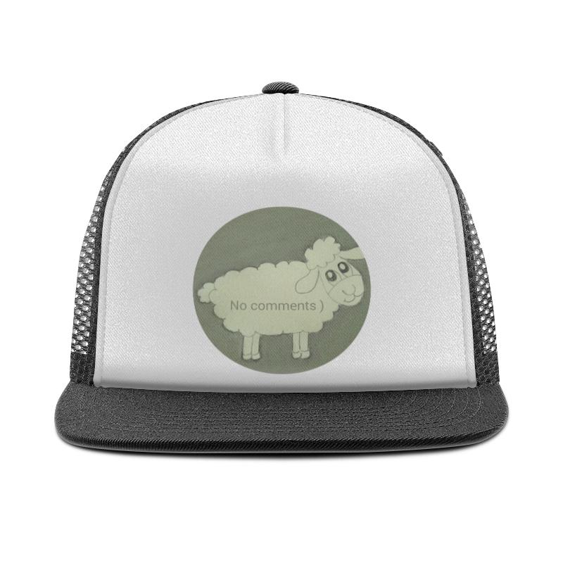 Кепка тракер с сеткой Printio Кепка овечка