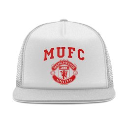 """Кепка тракер с сеткой """"Манчестер Юнайтед"""" - манчестер юнайтед, manchester united, футбольный клуб, красные дьяволы, мю"""