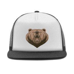 """Кепка тракер с сеткой """"Медведь"""" - медведь, животное"""