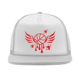 """Кепка тракер с сеткой """"Баскетбол"""" - крылья, спорт, мяч, баскетбол, тренировка"""
