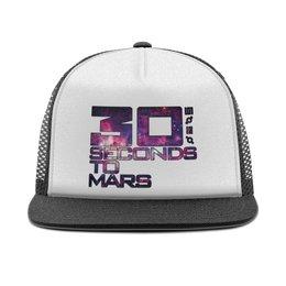 """Кепка тракер с сеткой """"30 Seconds to Mars"""" - музыка, рок, 30 seconds to mars"""