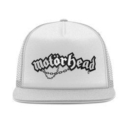 "Кепка тракер с сеткой ""Motorhead band"" - heavy metal, рок музыка, рок группа, motorhead, lemmy kilmister"