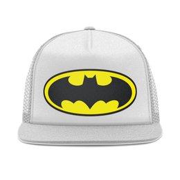 "Кепка тракер с сеткой ""Бэтмен"" - арт, стиль, рисунок, брюсуэйн"