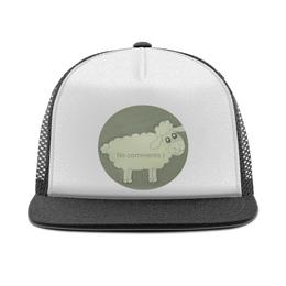 """Кепка тракер с сеткой """"Кепка Овечка"""" - бедная, удивленная, овечка"""