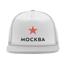 """Кепка тракер с сеткой """"Логотип Москвы"""" - люблюмоскву"""