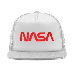 "Кепка тракер с сеткой ""NASA "" - космос, бренд, nasa, cosmos, астрономия"