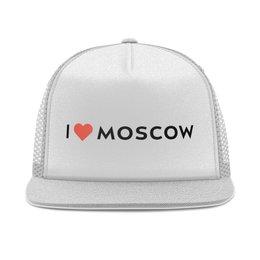 """Кепка тракер с сеткой """"Я люблю Москву"""" - люблюмоскву"""
