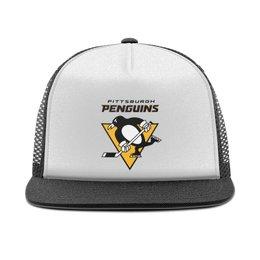 """Кепка тракер с сеткой """"Питтсбург Пингвинз"""" - питтсбург пингвинз, хоккей"""
