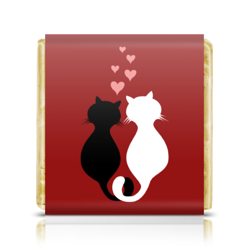 Шоколадка 35х35 Printio Кот и кошка chokocat могучий кот молочный шоколад 50 г