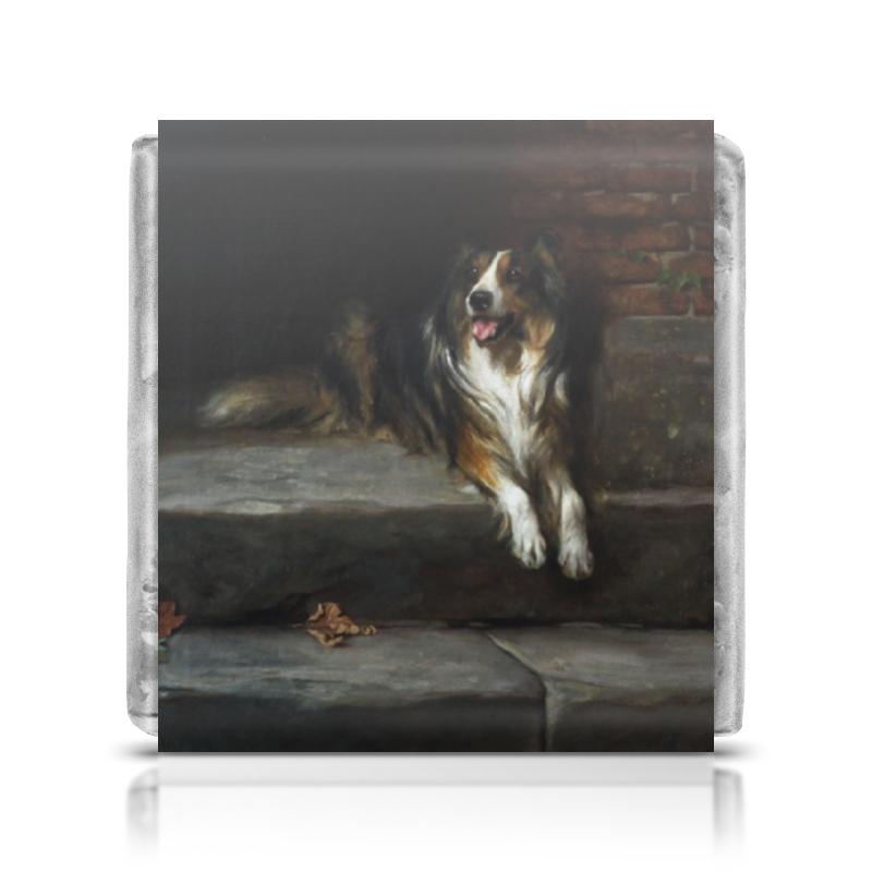 Шоколадка 3,5×3,5 см Printio Колли (картина артура вардля) картины постеры гобелены панно картины в квартиру картина бесконечность линий 35х35 см