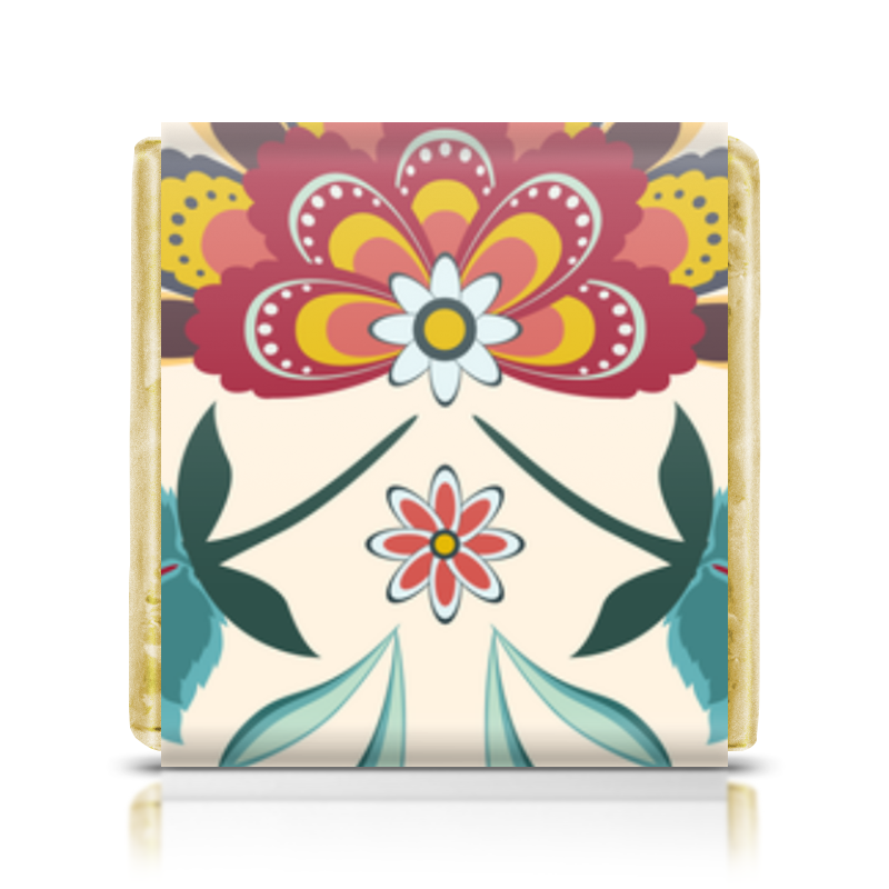 Шоколадка 3,5×3,5 см Printio Цветочный