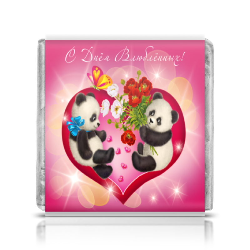 Шоколадка 35х35 Printio День влюбленных шоколадка 35х35 printio любимой маме