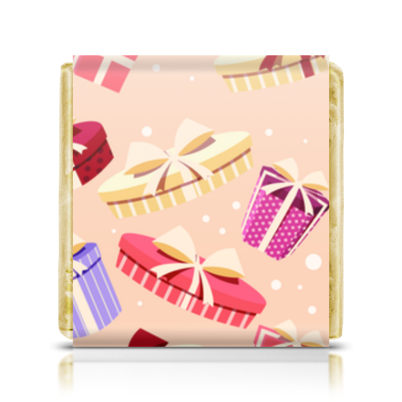 Шоколадка 3,5×3,5 см Printio Подарочная