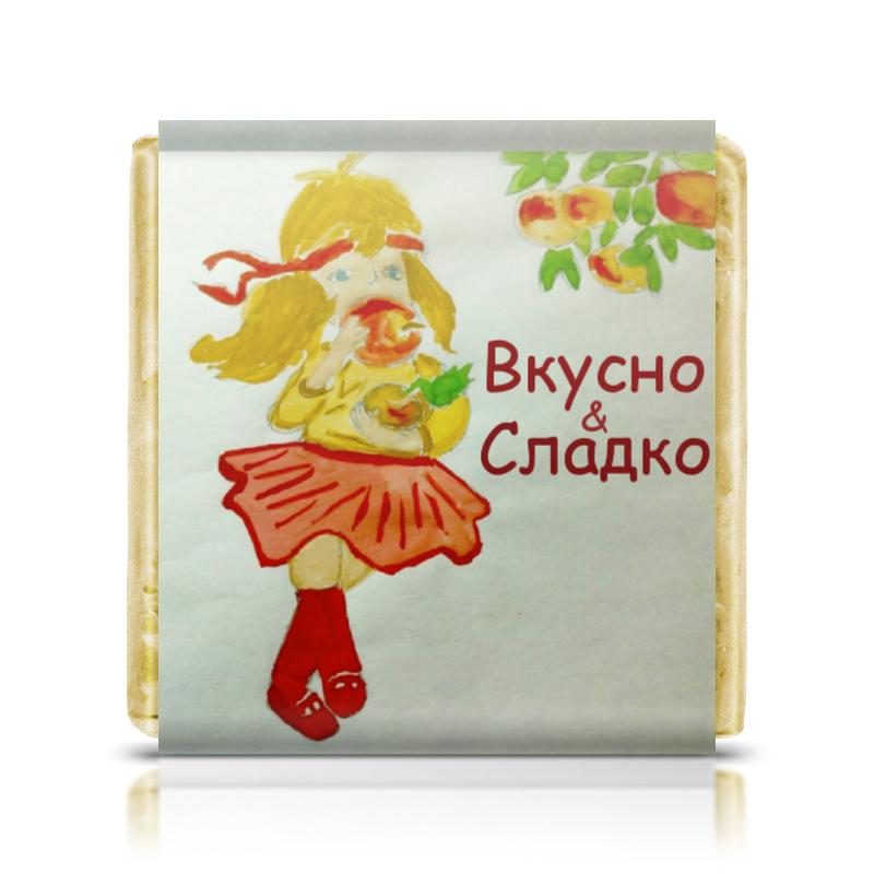 Шоколадка 35х35 Printio Яблочко шоколадка 35х35 printio апельсины
