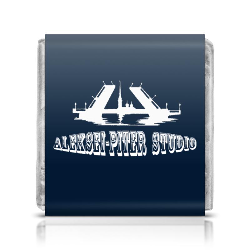 Шоколадка 3,5×3,5 см Printio Aleksei-piter studio (синий) туфли studio w klingel цвет зеленый серебристый рисунок