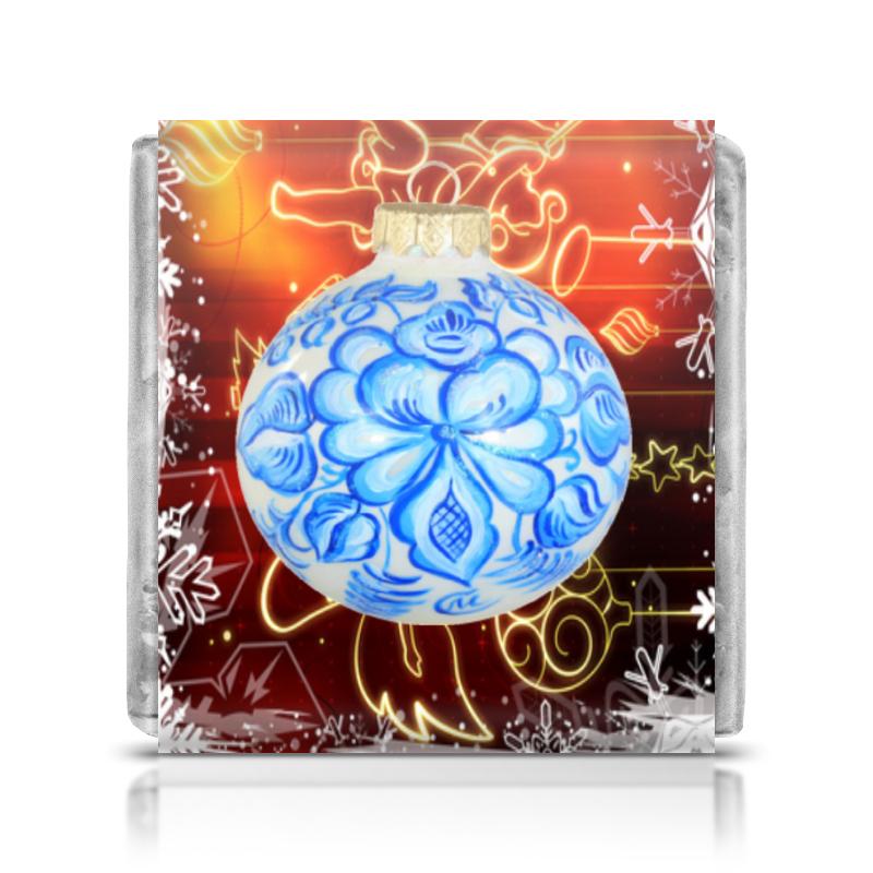 Шоколадка 35х35 Printio Новый год росмэн любимый праздник новый год 27850