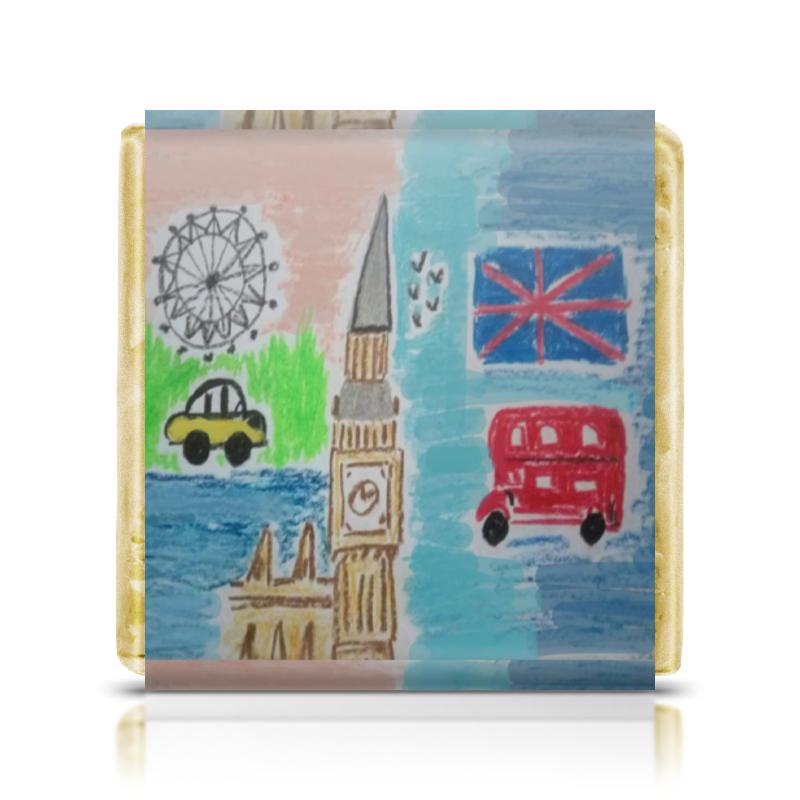 Шоколадка 3,5×3,5 см Printio Лондон siku двухэтажный автобус