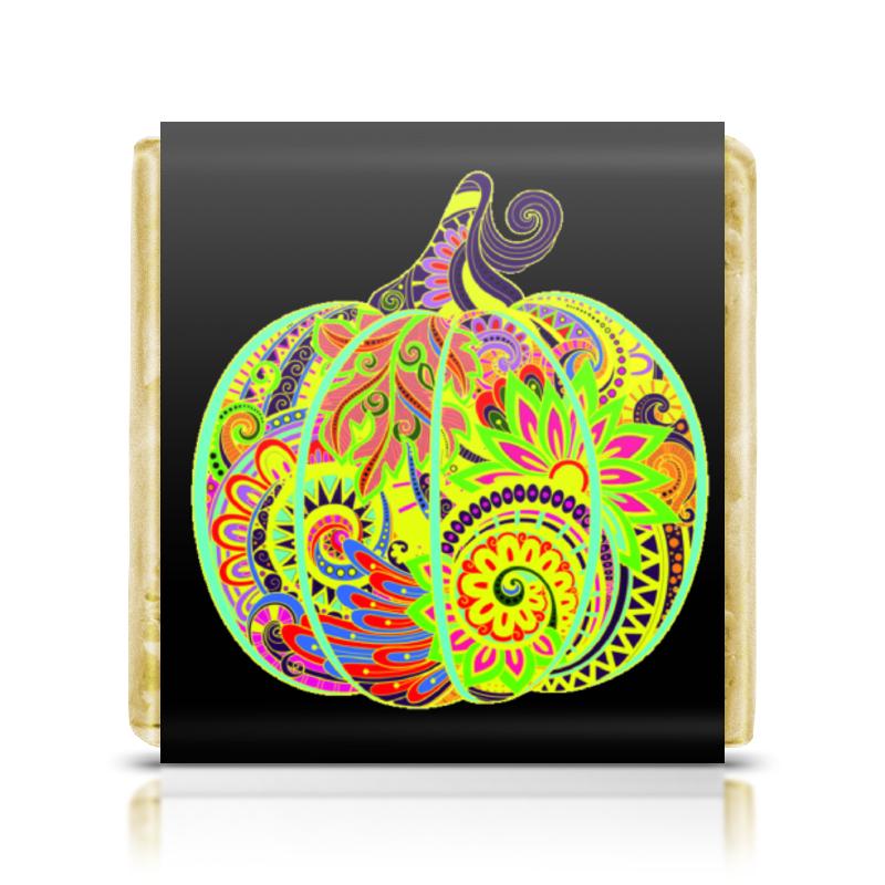все цены на Шоколадка 3,5×3,5 см Printio Цветы в тыкве онлайн