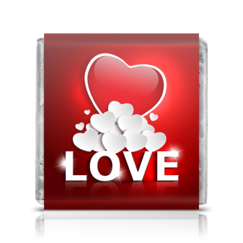 Шоколадка 35х35 Printio Сердца худи print bar сердца любви