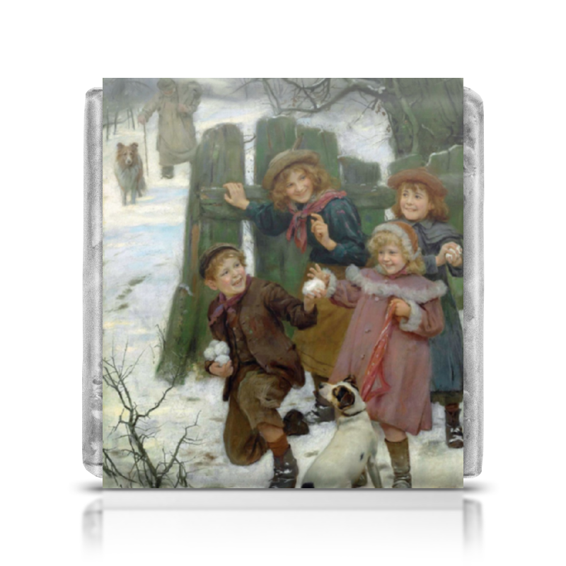 Шоколадка 35х35 Printio Картина артура элсли (1860-1952) подарочная коробка малая пенал printio картина артура элсли 1860 1952