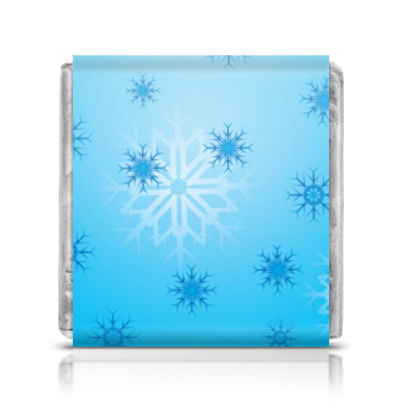 Шоколадка 35х35 Printio Снежинка миниатюра снежинка цвет серебристый 8 см