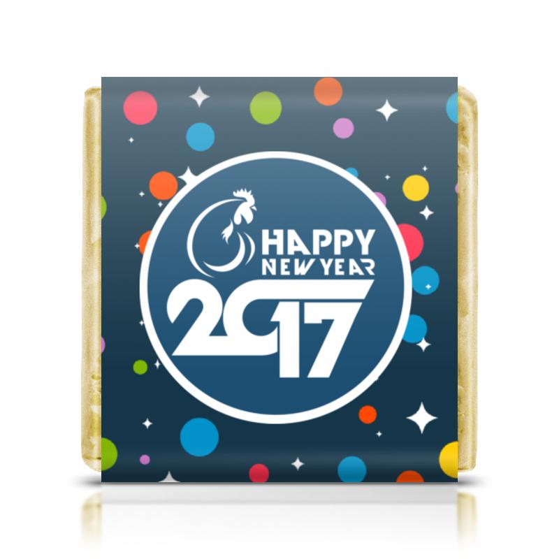 Шоколадка 3,5×3,5 см Printio Happy new year 2017 холст 20х30 printio лесная нимфа