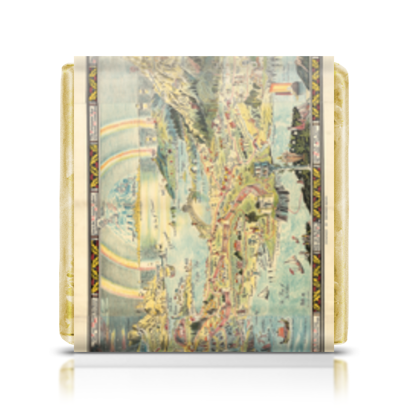 Шоколадка 35х35 Printio An ancient mappe of fairyland foundations of education an ems approach