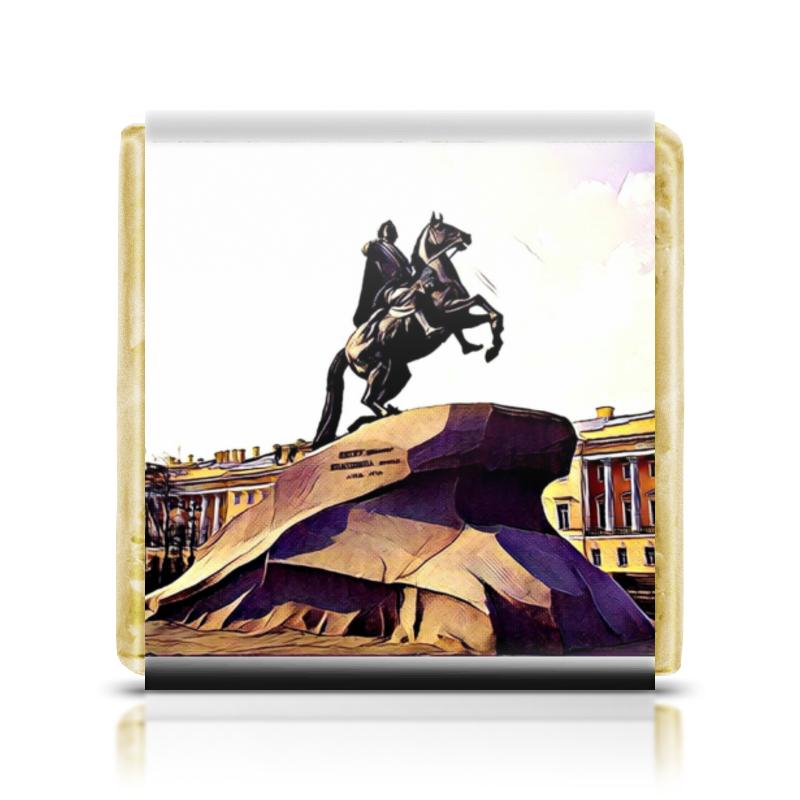Шоколадка 35х35 Printio Медный всадник елизавета топалова медный всадник жизненный путь этьена фальконе