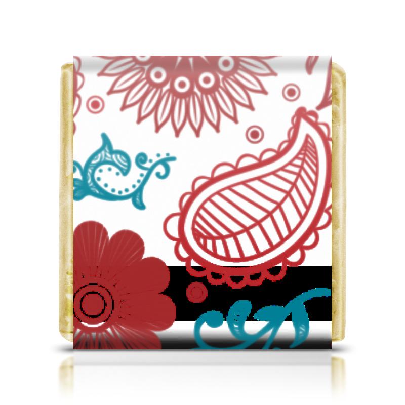 Шоколадка 35х35 Printio Цветочная конфитрейд ретро автомобиль фруктовое драже с игрушкой 5 г