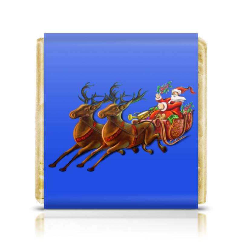 Шоколадка 35х35 Printio Санта клаус украшение snowhouse санта клаус snt hd 01