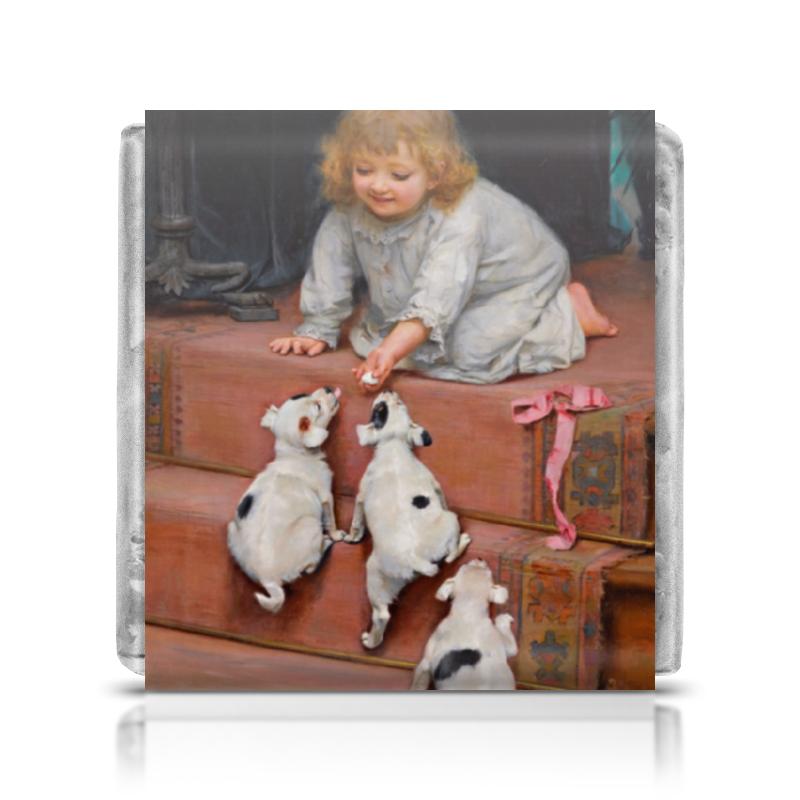 Фото - Шоколадка 3,5×3,5 см Printio Картина артура элсли (1860-1952) картины в квартиру картина bamboo and tree 79х79 см