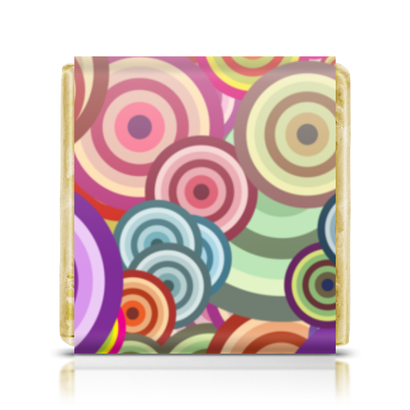 Шоколадка 3,5×3,5 см Printio Цветные круги цена