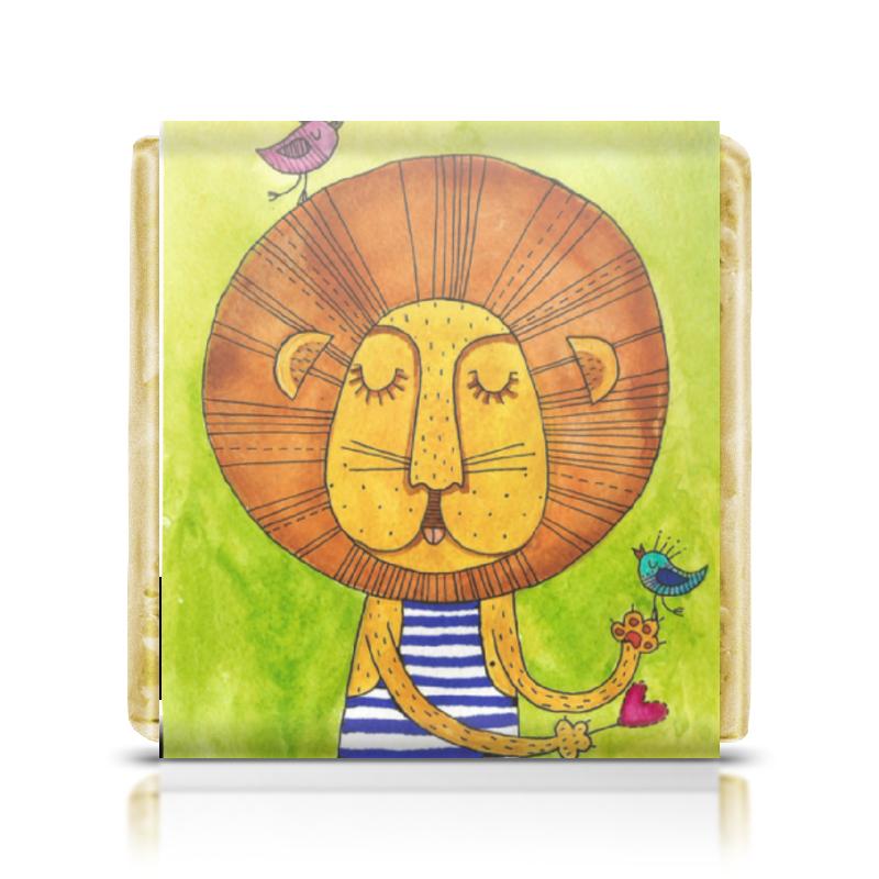 Шоколадка 35х35 Printio Лев бонифаций в тельняжке торт printio король лев
