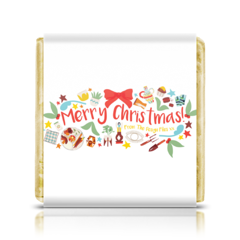 Шоколадка 3,5×3,5 см Printio Merry christmas scrapbook diy photo cards account rubber stamp clear stamp finished transparent chapter merry bright christmas 19 5x23 5cm sd162