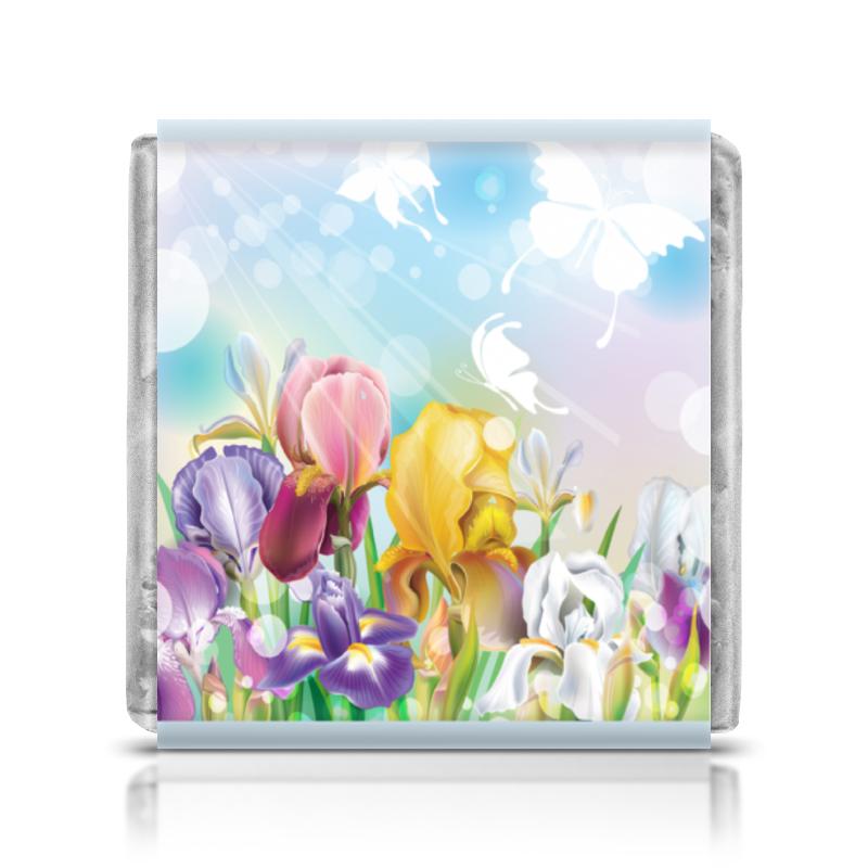 все цены на Шоколадка 3,5×3,5 см Printio Цветы онлайн