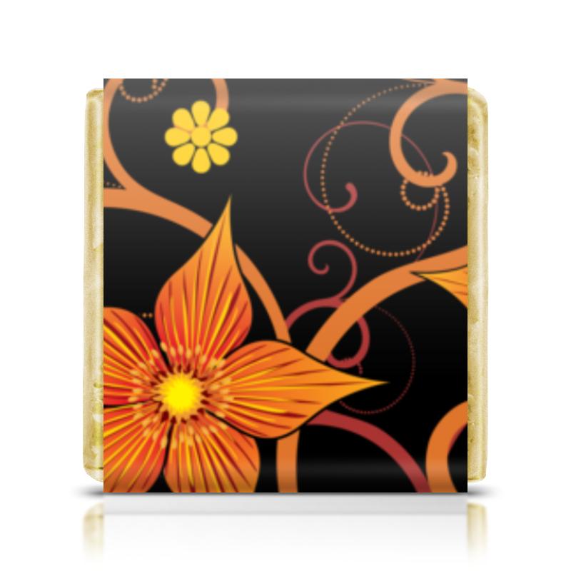 все цены на Шоколадка 3,5×3,5 см Printio Цветочный онлайн