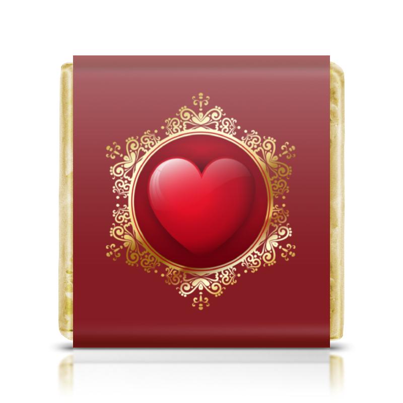 Шоколадка 35х35 Printio Сердце рюкзак с полной запечаткой printio синяя клетка