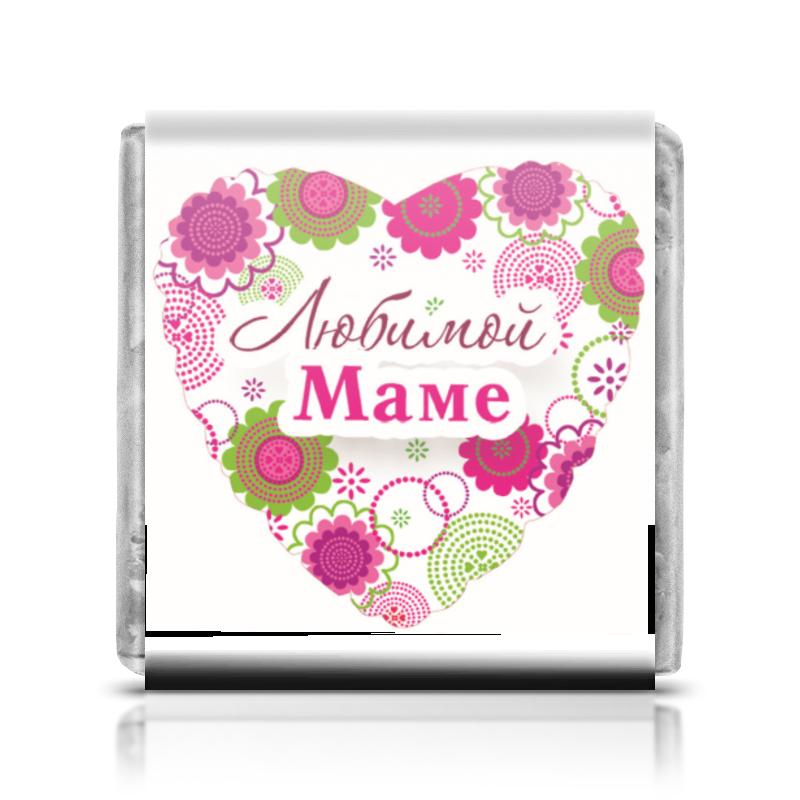 Шоколадка 35х35 Printio Любимой маме что в подарок женщине на 65 лет