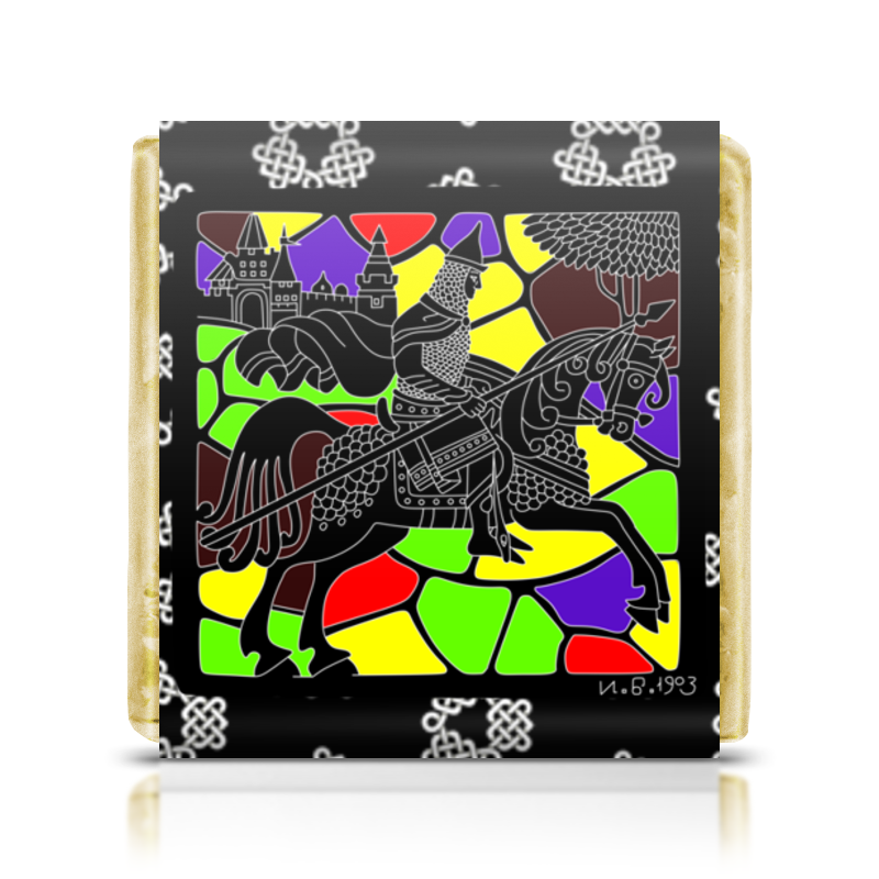 Шоколадка 3,5×3,5 см Printio Богатырь дайкон московский богатырь 1 г