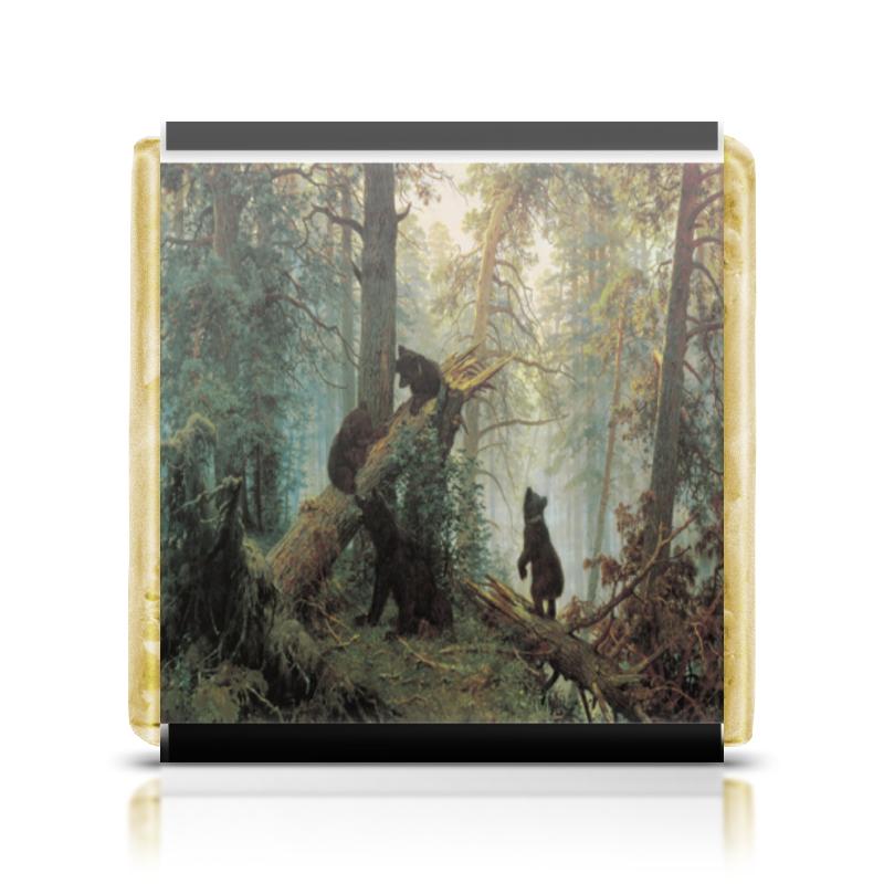 Шоколадка 35х35 Printio Утро в сосновом лесу тв съемка шоу уральские пельмени утро в сосновом бреду 2018 04 22t20 00