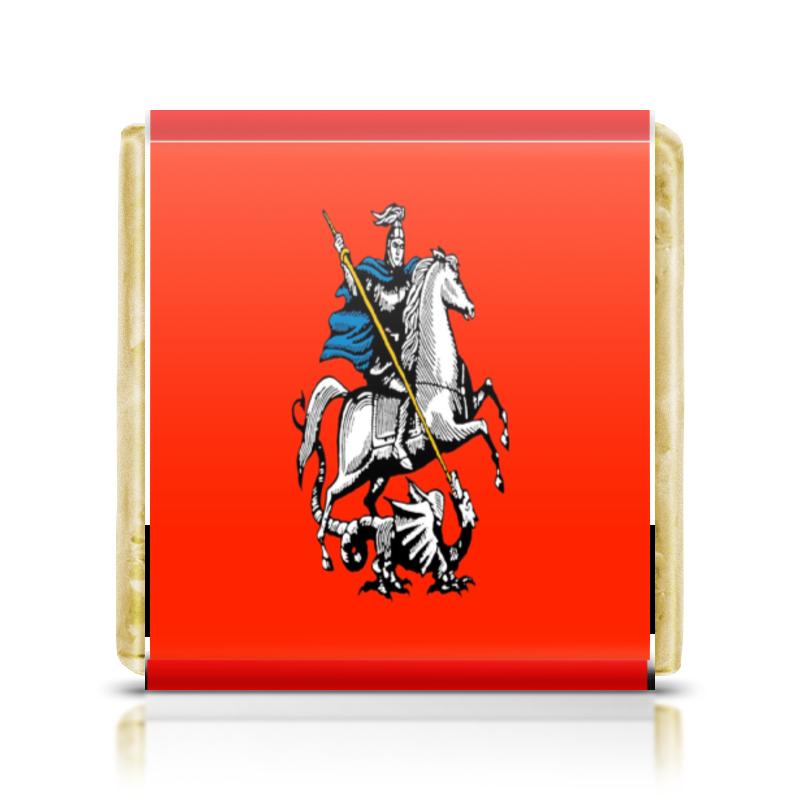 Шоколадка 3,5×3,5 см Printio Герб москвы
