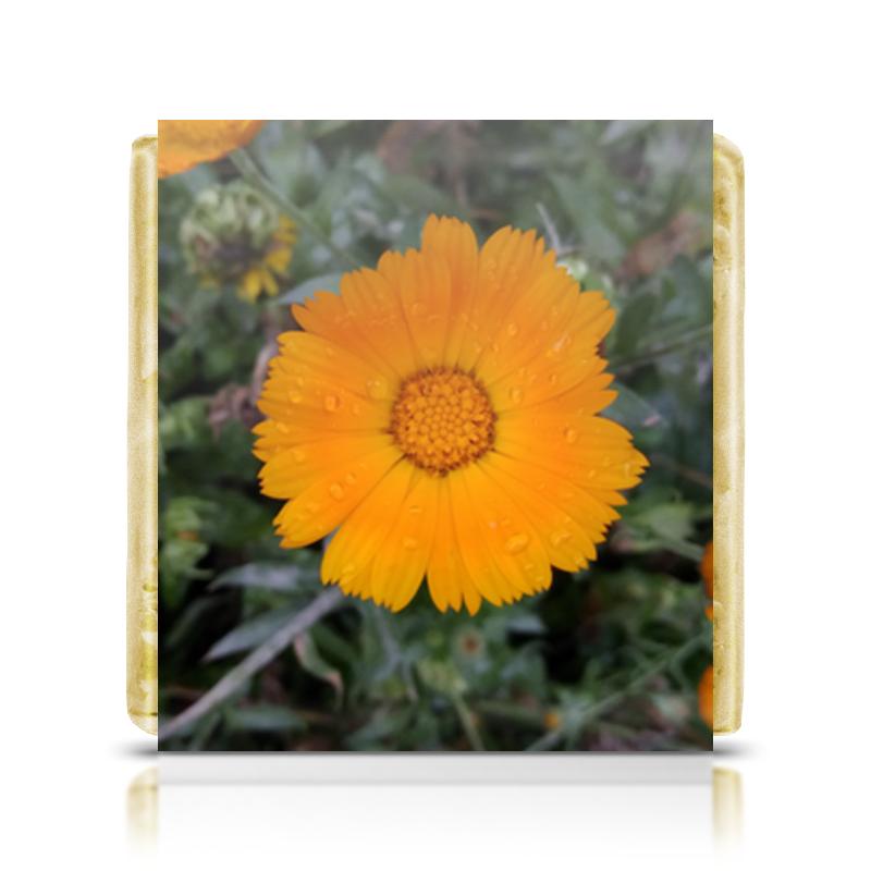 Шоколадка 3,5×3,5 см Printio Летние цветы