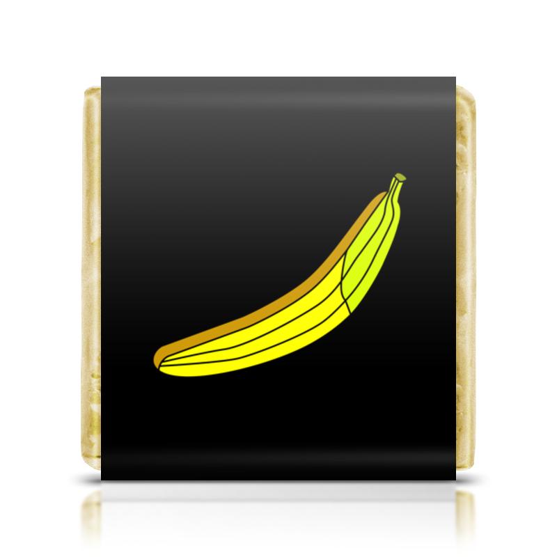 Шоколадка 3,5×3,5 см Printio Страстный банан weider premium whey protein свежий банан пакет 500г